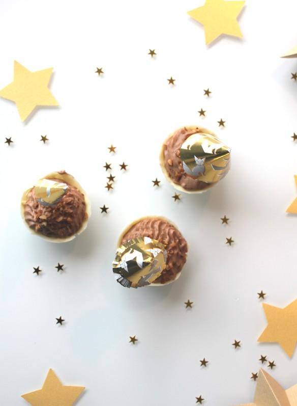 diy parasol dorés pour mousse au chocolat (6)