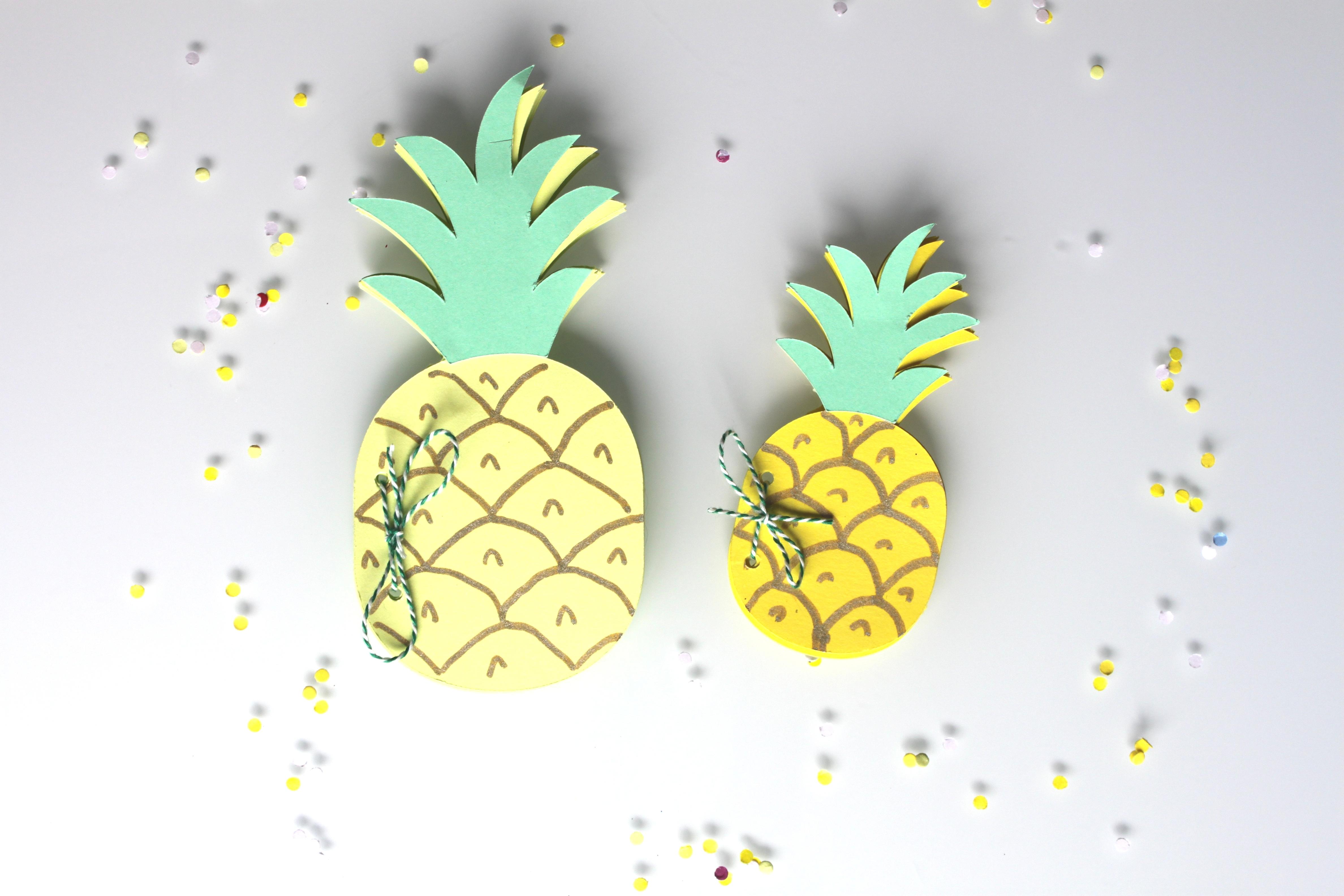 Diy le petit carnet ananas la fabricamania for Petit ananas deco