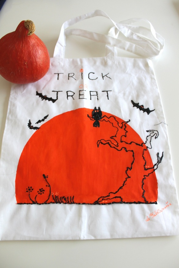 DIY-tote bag-halloween- la fabricamania mc