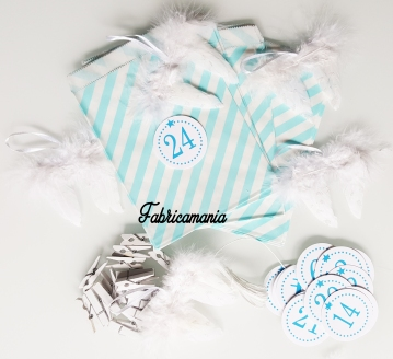 calendrier-avant-noel-turquoise-rayure-aile-ange-paillette - Copie
